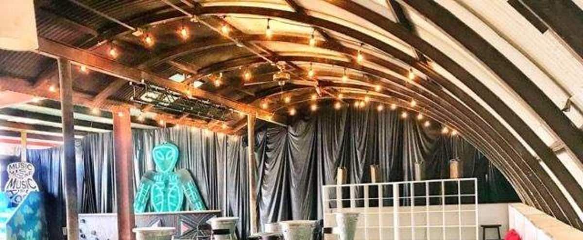 Warehouse Event Space with High Ceilings and Covered Outdoor Area in Glendale Hero Image in Vineyard, Glendale, CA