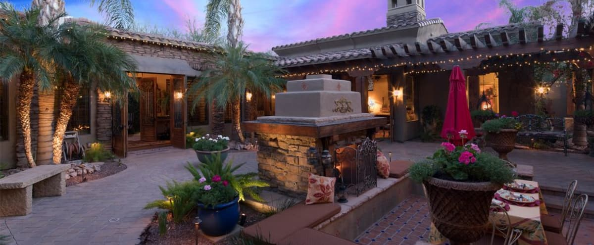 Santa Barbara/Tuscan style home in Scottsdale in Scottsdale Hero Image in Sundown Ranch Acres, Scottsdale, AZ