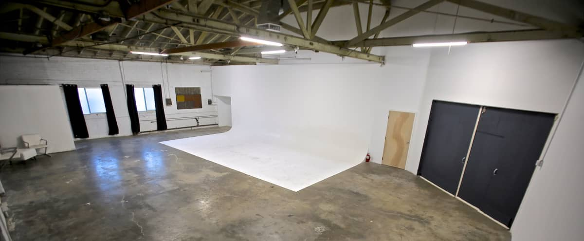 Huge East Side studio / warehouse space w/30' cyc in Los Angeles Hero Image in Echo Park, Los Angeles, CA