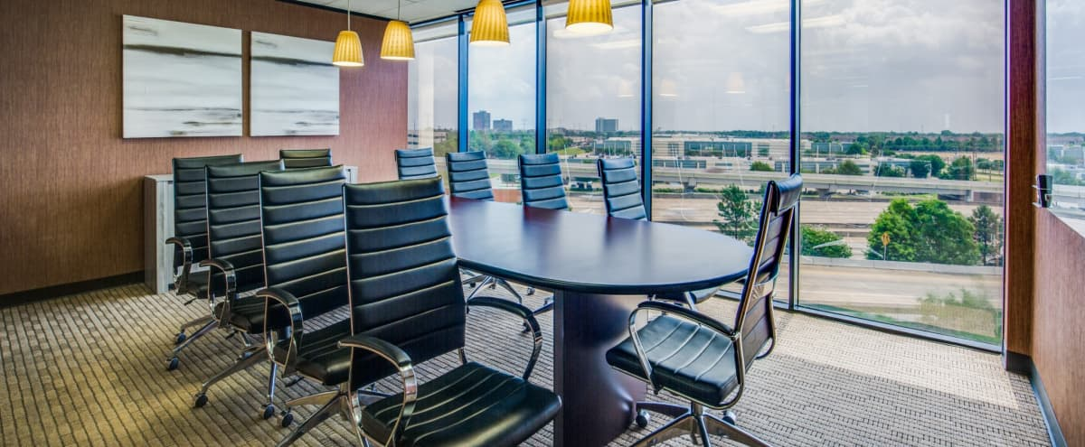 Large 10 Person Conference Room near IAH Airport in Houston Hero Image in Greater Greenspoint, Houston, TX