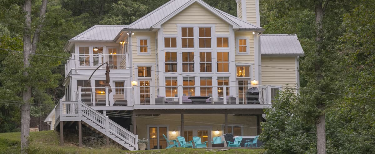 Modern Farmhouse Style Chalet with amazing Kentucky Lake views - Dock, Hottub and Firepit! in Waverly Hero Image in undefined, Waverly, TN
