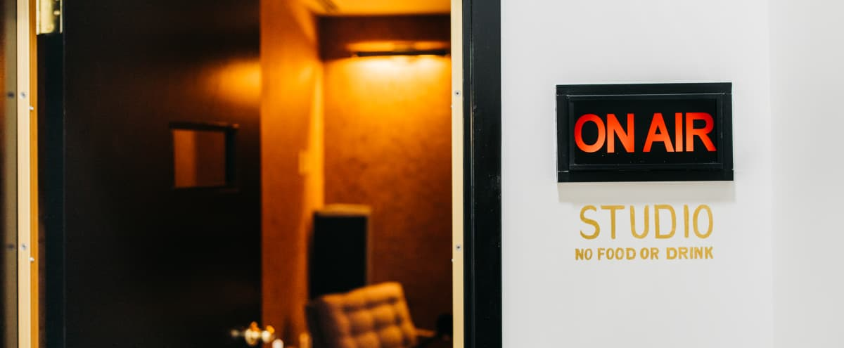 Warm, Inviting & Professional Studio for Live Podcasts, Comedy Routines, Conversations with Friends, Special Shout-Outs, ASMR, Book and Poetry Readings & More in Downtown Atlanta in Atlanta Hero Image in Downtown Atlanta, Atlanta, GA