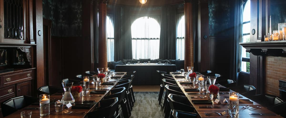 Gorgeous Banquet Dining Room in 1904 Mansion in San Francisco Hero Image in Alamo Square, San Francisco, CA