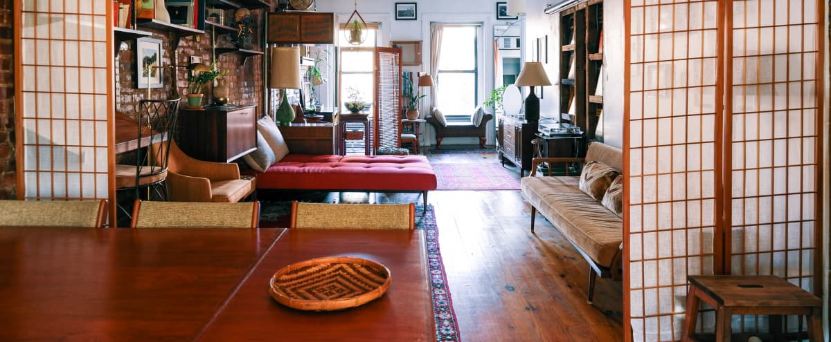 LOFT HAVEN ~ Full Floor ~ Six Windows ~ Bricks ~ Plants ~ Quiet in Brooklyn Hero Image in Williamsburg, Brooklyn, NY
