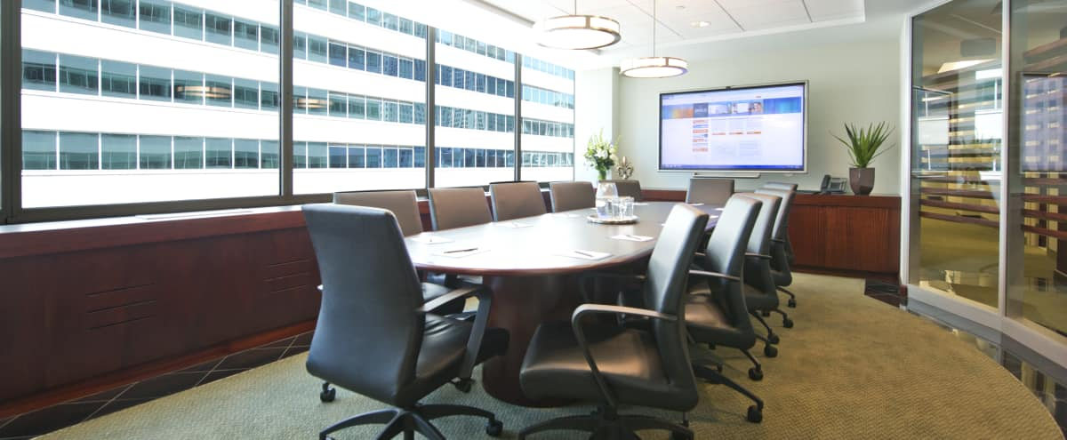 Sleek and Well Lit Boardroom with City View in Philadelphia Hero Image in Logan Square, Philadelphia, PA