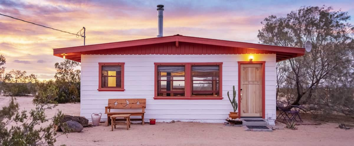 Restored homestead cabin with 5 acres in Joshua Tree Hero Image in undefined, Joshua Tree, CA