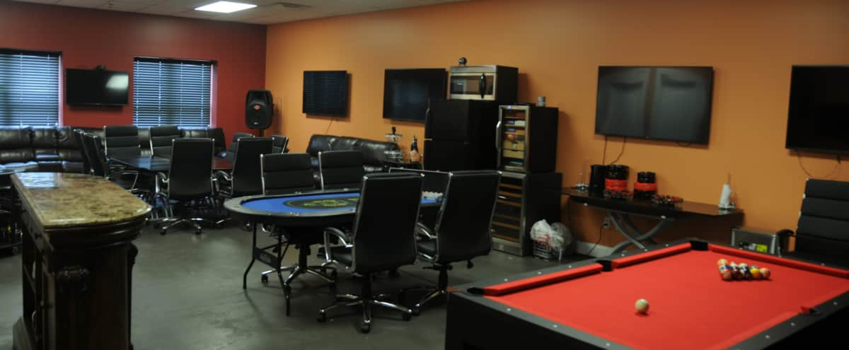 Meeting Space With Pool And Poker Tables In Staten Island Hero Image In  Charleston, Staten