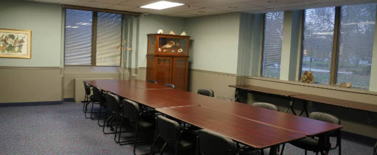 Bright Conference Room with LCD Screen in Philadelphia Hero Image in Logan Square, Philadelphia, PA