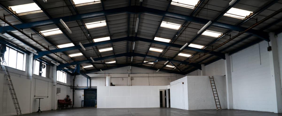 Large Industrial Warehouse Studio Space in London Hero Image in Stratford, London,