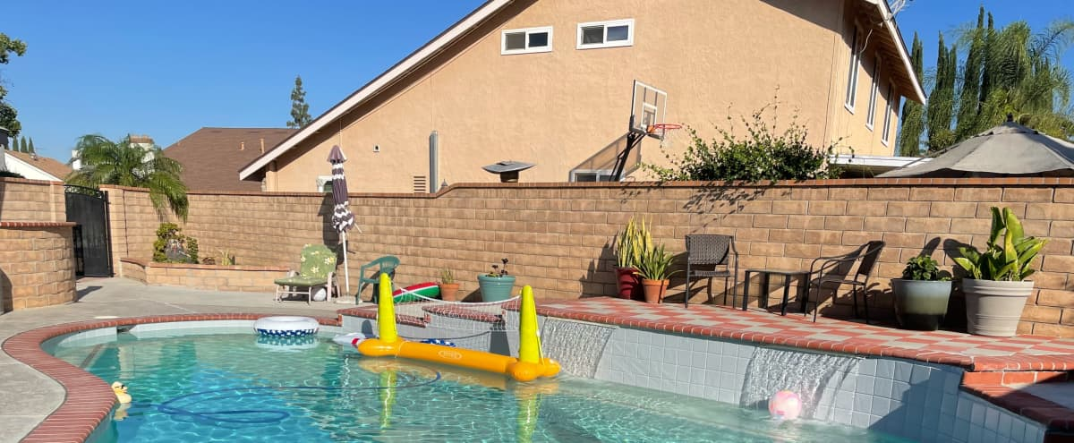 Sunny kool Pool with a Patio Made for Relaxation in Rowland Heights Hero Image in undefined, Rowland Heights, CA