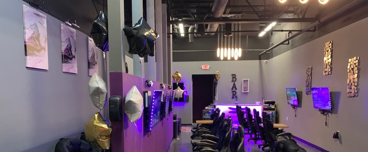 Creative Multi-Purpose Purple, Gray, Black Lounge, Conveniently Located Next to Kennesaw State in Kennesaw Hero Image in undefined, Kennesaw, GA