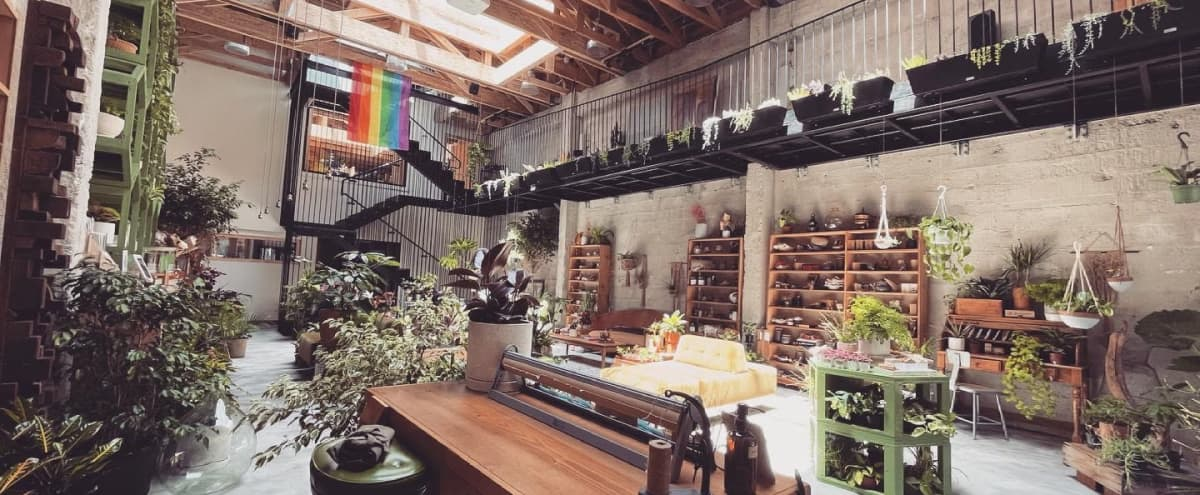 Industrial-Looking Urban Greenhouse with Lofted Ceilings in San Francisco Hero Image in Mission District, San Francisco, CA
