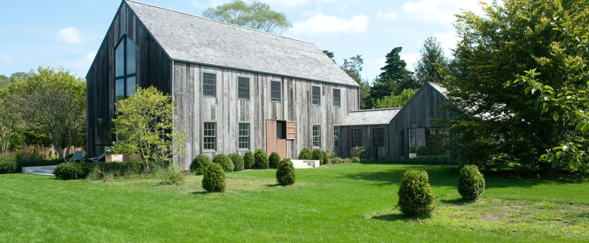 Minimalistic Hamptons Barn House in Remsenburg Hero Image in Remsenburg, Remsenburg, NY