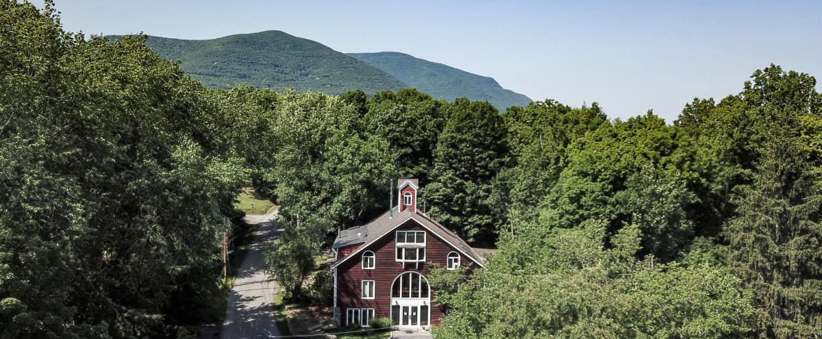 Great, magnificent, private, renovated country barn combination multipurpose commercial space-luxurious duplex penthouse in famous Hudson Valley town. in Woodstock Hero Image in undefined, Woodstock, NY