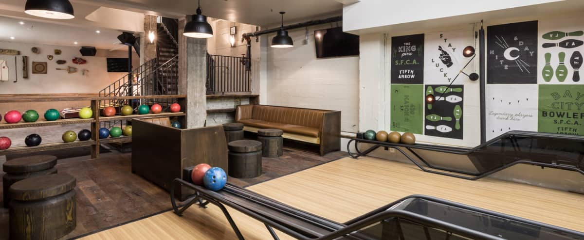 FULL BUYOUT Private Bowling Alley + Bar Space in Union Square (Includes Food/Bar) in San Francisco Hero Image in Lower Nob Hill, San Francisco, CA