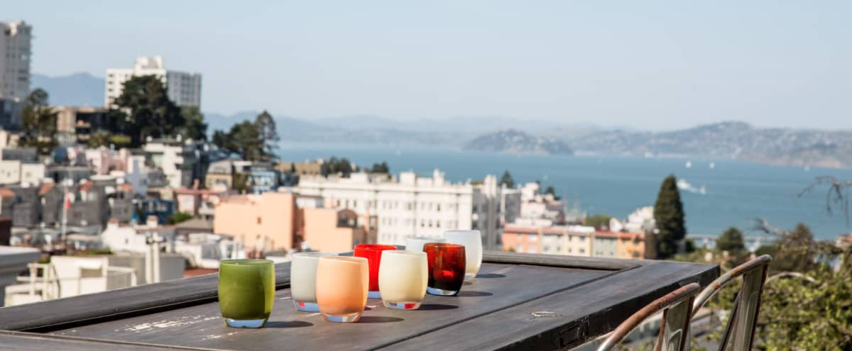 Historic Russian Hill Flat with Spectacular Outdoor Space and views of Alcatraz in San francisco Hero Image in Russian Hill, San francisco, CA
