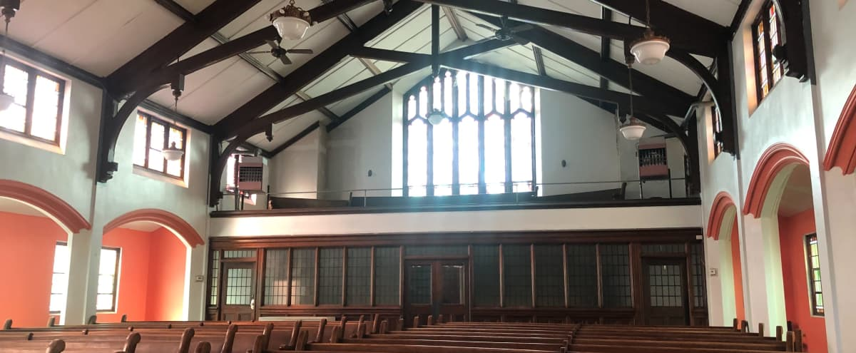 A Beautiful Church with Seating for 100 w/ Wifi, Projector and Bathrooms in Buffalo Hero Image in Front Park, Buffalo, NY