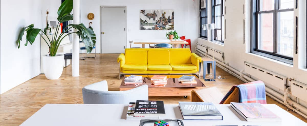 4,000 sq./ft. top floor workspace + skylight cafe + living room area in Chinatown in New York Hero Image in Chinatown, New York, NY
