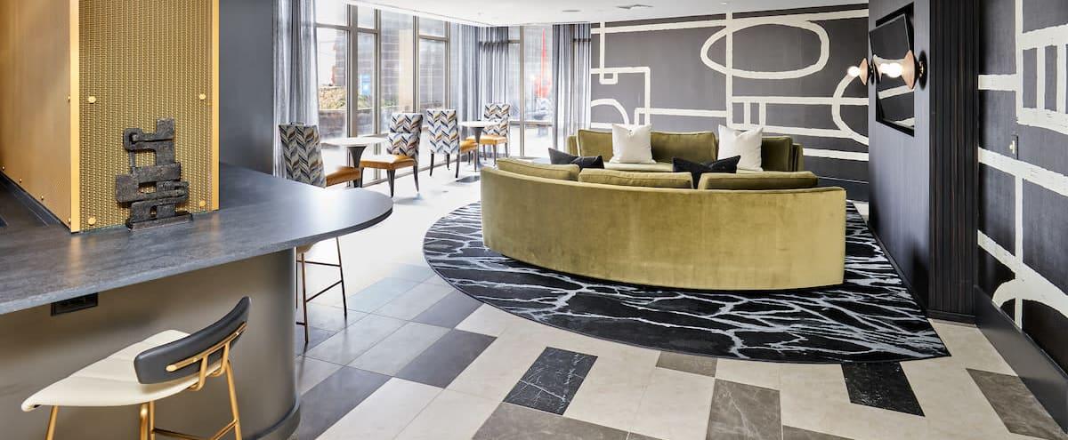 Modern Club Room with Courtyard on 14th Street in Washington Hero Image in Northwest Washington, Washington, DC