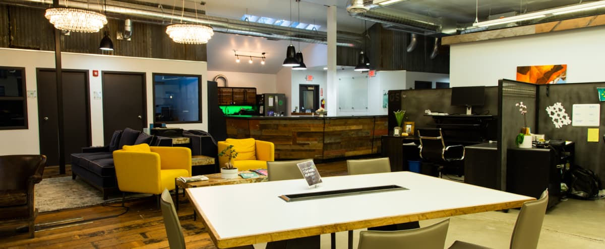 Modern Common Area w/ a Creative Atmosphere + Kitchen in Portland Hero Image in South Portland, Portland, OR