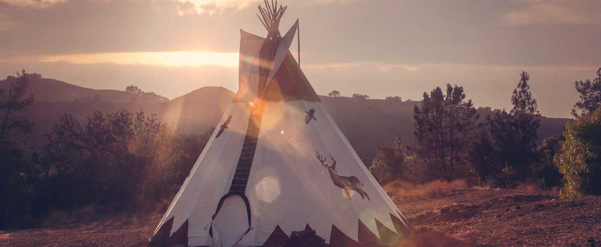 26' Hand-painted Tipi on a Private Ranch in Agoura Hills Hero Image in undefined, Agoura Hills, CA
