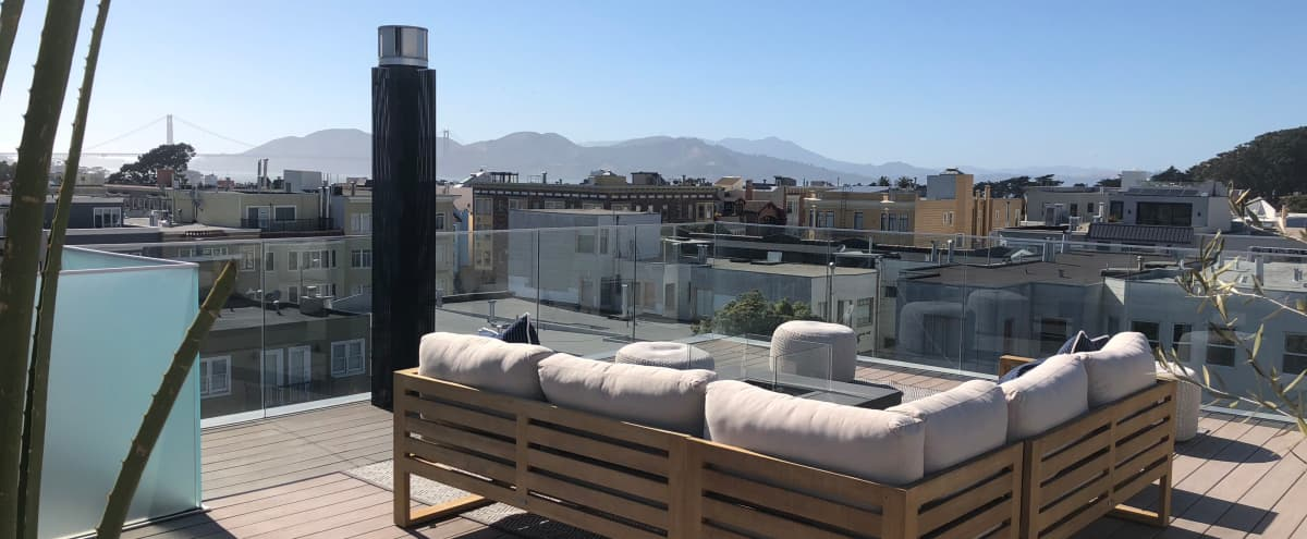 Modern Marina Penthouse with Golden Gate Bridge/City Views! Indoor/Outdoor Options! in San Francisco Hero Image in Marina District, San Francisco, CA
