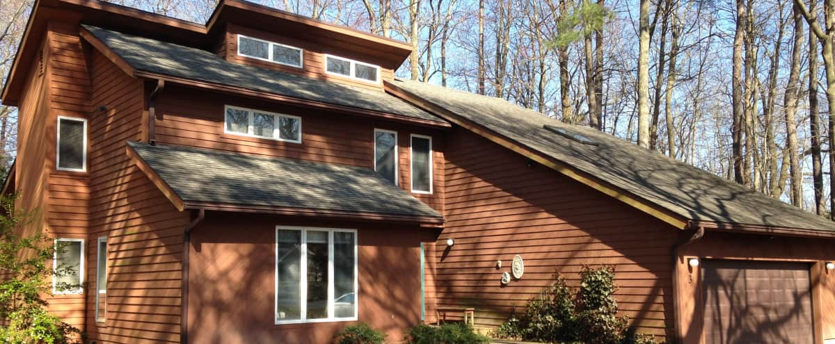 Rustic Contempory 2 story home on wooded lot with great indoor and outdoor spaces in Georgetown Hero Image in undefined, Georgetown, DE