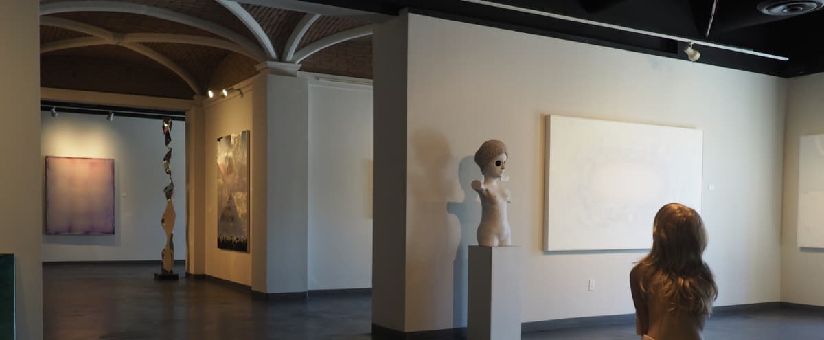 Contemporary Art Gallery with Ample Space Indoor/Outdoor in Palm Desert Hero Image in undefined, Palm Desert, CA