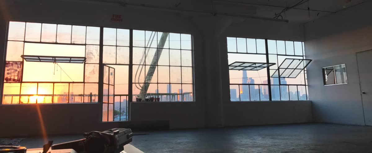 Downtown Warehouse GOLDEN Skyline View Perfect For Small Art Shows and Gatherings in Los Angeles Hero Image in Downtown, Los Angeles, CA