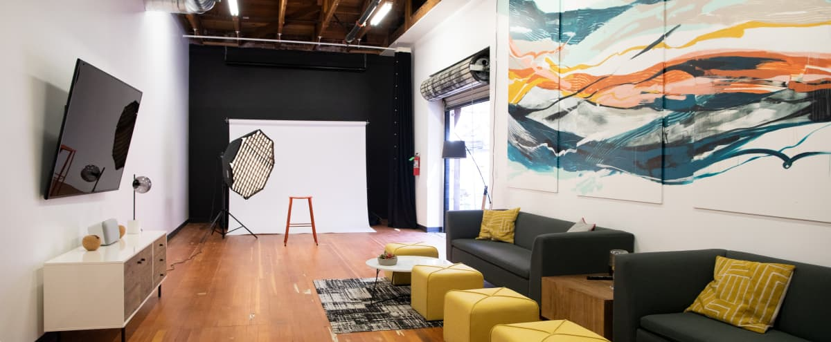 Photo shoot space in large lounge in downtown industrial space in Petaluma Hero Image in undefined, Petaluma, CA