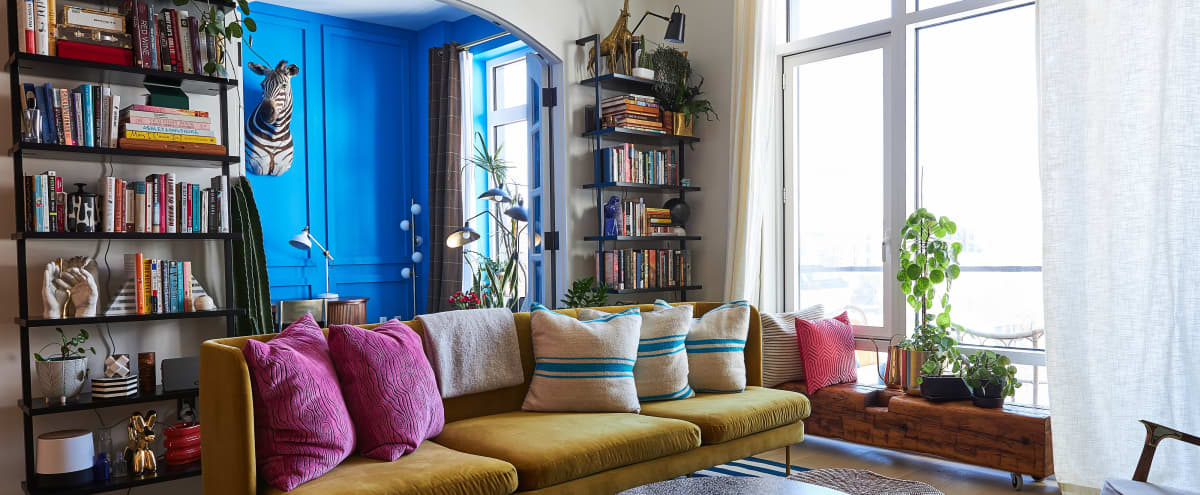 Williamsburg Apartment with High Ceilings, Chefs Kitchen, Natural Light and Downtown Manhattan View in Brooklyn Hero Image in Williamsburg, Brooklyn, NY