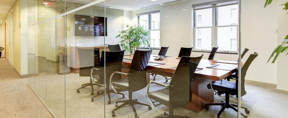 Boardroom at Prestigious Office Building in Washington Hero Image in Northwest Washington, Washington, DC
