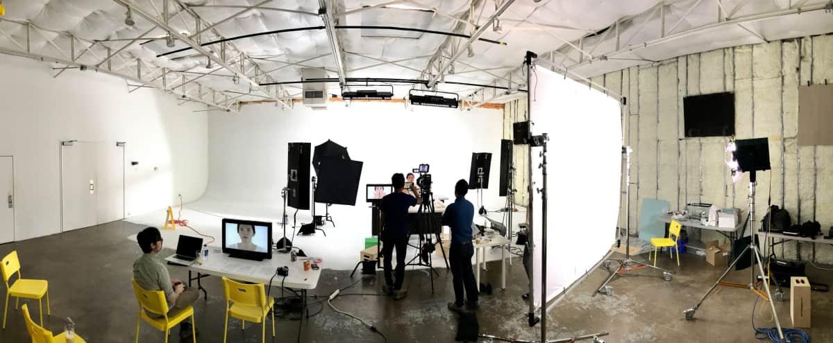Film Studio in Dallas Design District with White Cyc Stage in Dallas Hero Image in Design District, Dallas, TX