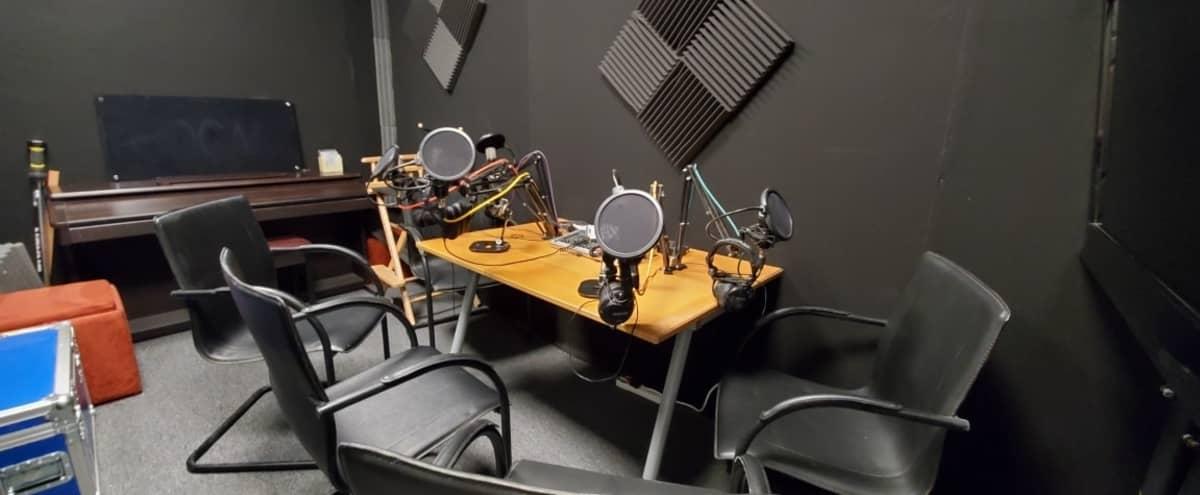 Sound deadened podcast studio with equipment in Escondido Hero Image in Central Escondido, Escondido, CA