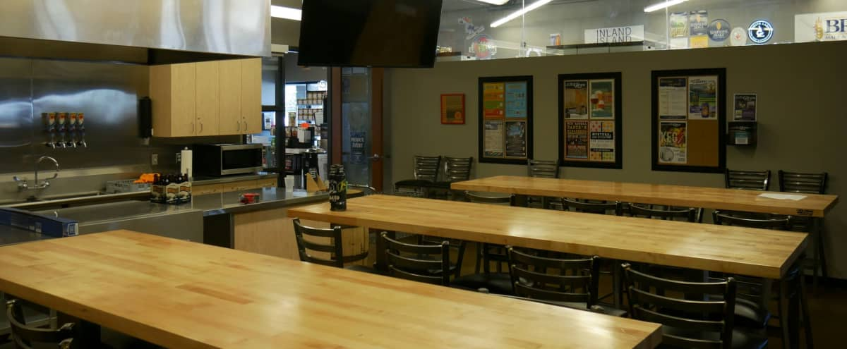 The Brew Hut Classroom Private Event Space in Aurora Hero Image in Meadow Hills, Aurora, CO