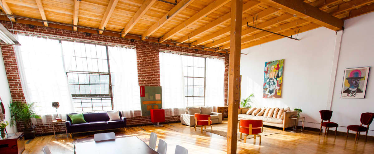 New York Style Loft, Natural Light, Exposed Brick & Free Parking in Los Angeles Hero Image in South Los Angeles, Los Angeles, CA