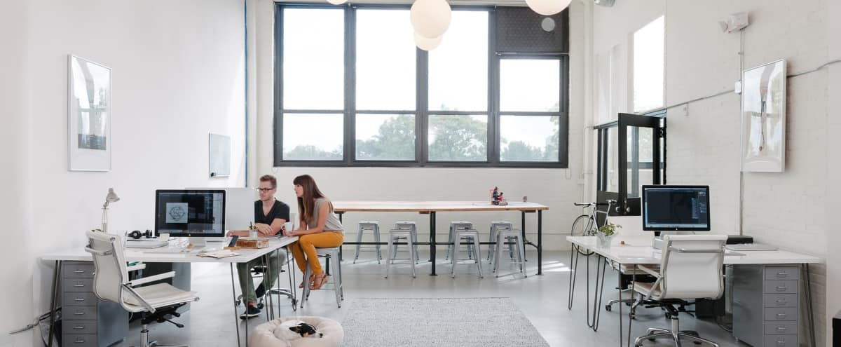 Modern White Design Loft Office With Loading Dock And Freight Elevator In  Chicago Hero Image In