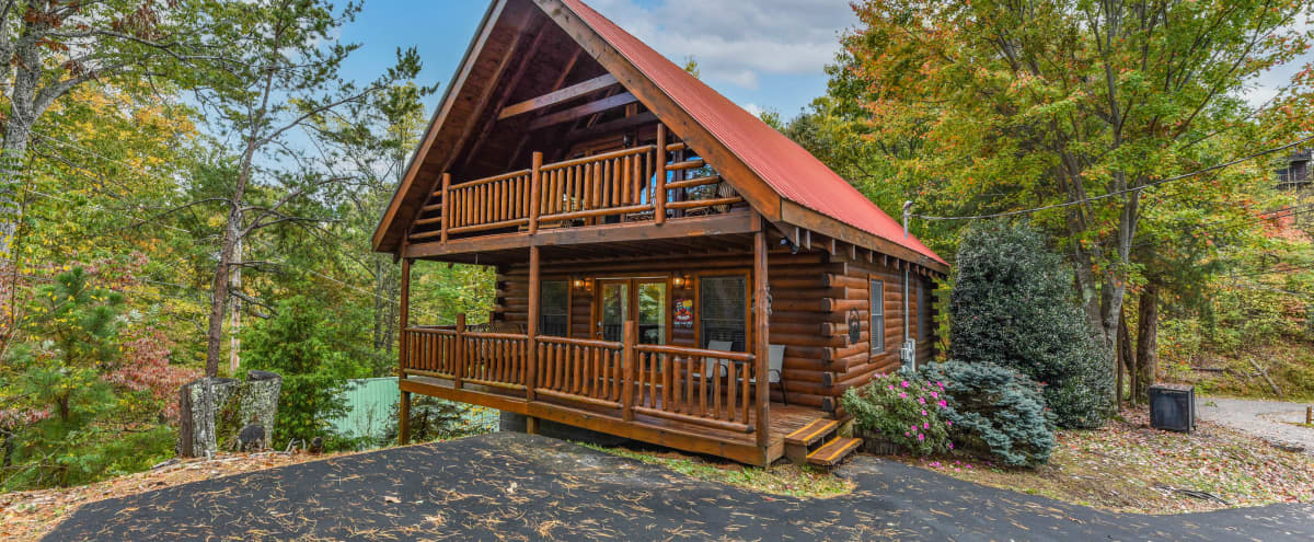 ⭐️Amazing Chalet, Fireplace, 3 decks! hot tub, high speed WiFi, 412 game table in Sevierville Hero Image in undefined, Sevierville, TN