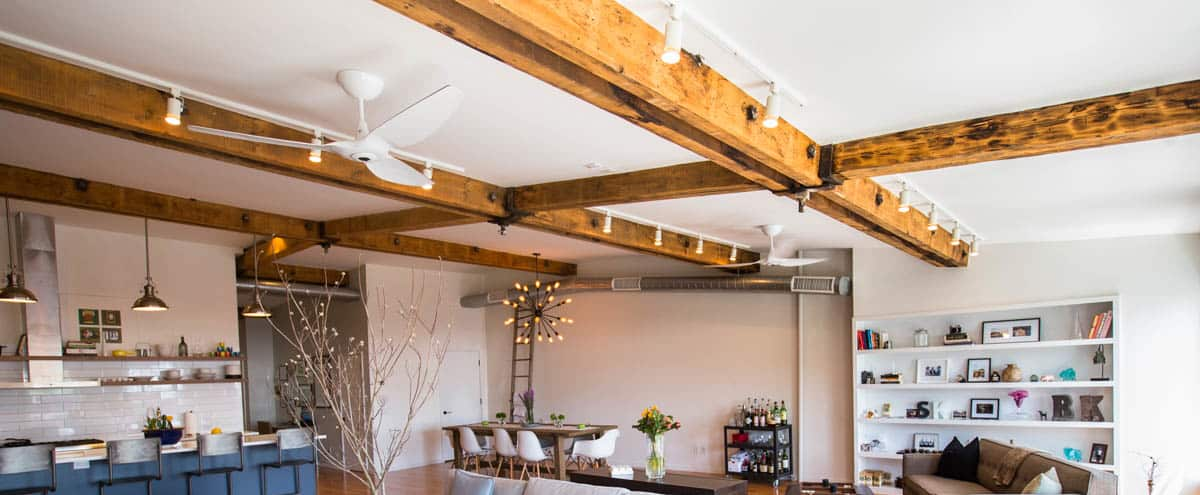 Massive loft space with exposed beams and exposed brick in BROOKLYN Hero Image in Brooklyn Heights, BROOKLYN, NY