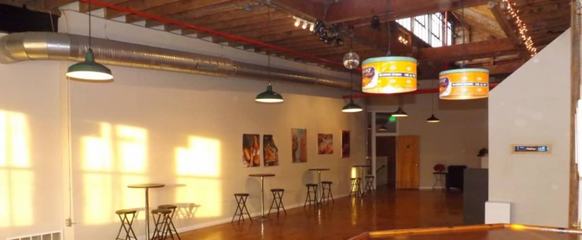 80 Person Capacity Loft Event Space in Baltimore Hero Image in Highlandtown, Baltimore, MD