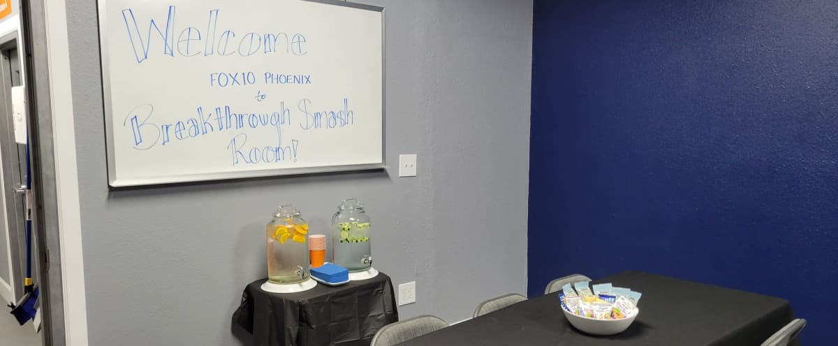 Private Meeting & Event Room for 6 - Plus Smashing in Phoenix Hero Image in Deer Valley, Phoenix, AZ
