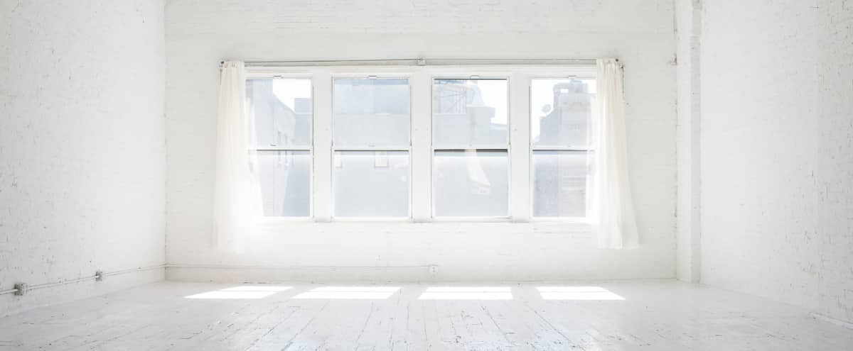 Sun Filled Daylight Photo Studio / 1500 sq. ft. White Loft in New York Hero Image in Lower Manhattan, New York, NY