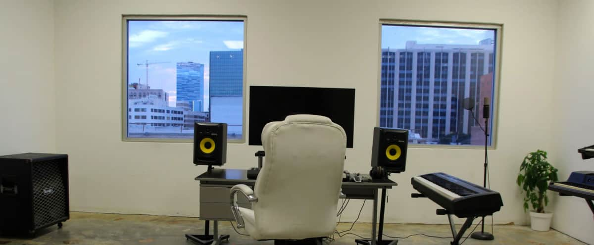 Fully-equipped Music Recording Studio Room Located in the Fashion District of Downtown Los Angeles in Los Angeles Hero Image in Central LA, Los Angeles, CA
