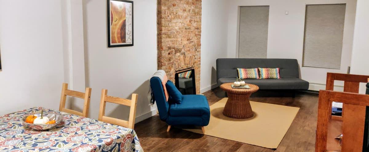 Garden Apartment in Landmark Brownstone in Brooklyn Hero Image in Bedford-Stuyvesant, Brooklyn, NY