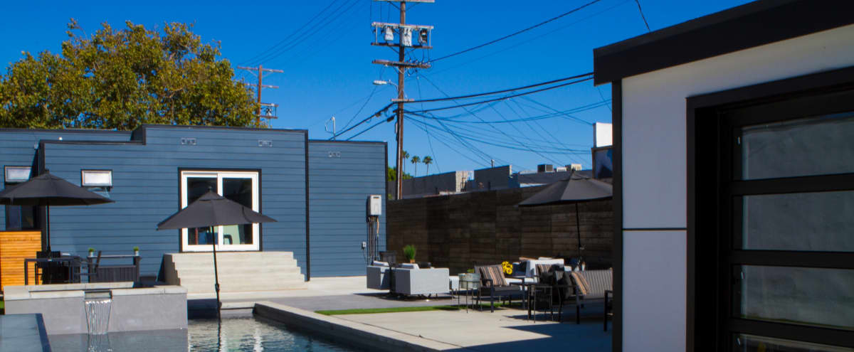 The Blue House with the Green Door - Urban Oasis Backyard feat. Pool/Hot Tub in Los Angeles Hero Image in Central LA, Los Angeles, CA