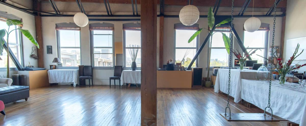 Amazing Top Floor 1500 sq. ft. Studio/Work/Live Loft in West Oakland/Jack London Square (INDUSTRIAL AREA). Beautiful views of Jack London/Embarcadero/Downtown Oakland/Emeryville. in Oakland Hero Image in Acorn Industrial, Oakland, CA