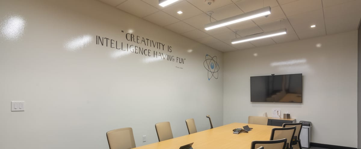 10 Person High-Tech Meeting Room in Irving Hero Image in Las Colinas, Irving, TX