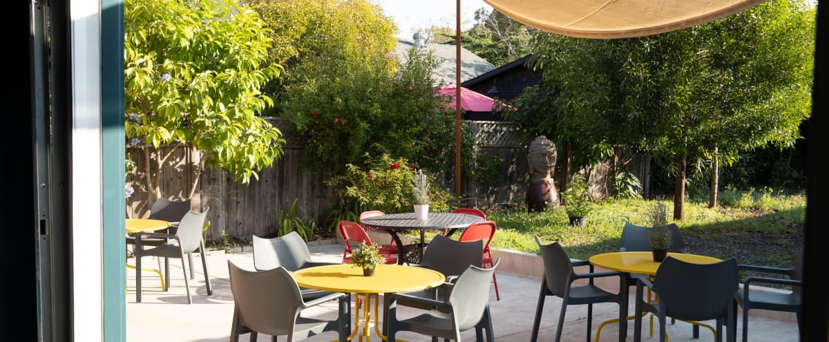 Gorgeous, spacious, outdoor patio - perfect for workshops, baby showers, receptions in Berkeley Hero Image in Southwest Berkeley, Berkeley, CA