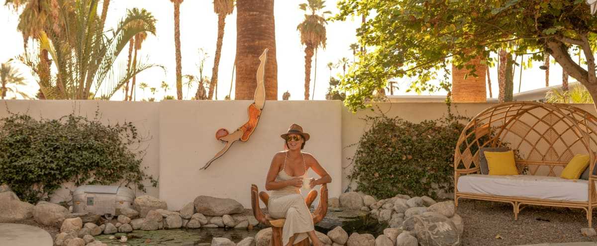 Palm Springs Dive Hotel, 1960's Boho-Chic French Riviera Meeting Space in Palm Springs Hero Image in Deepwell Estates, Palm Springs, CA
