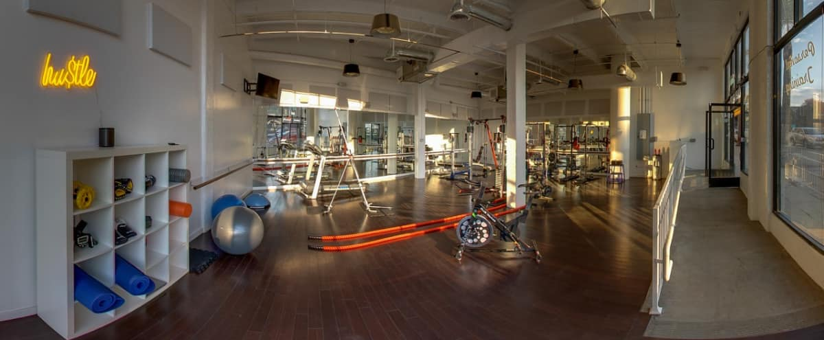 Hollywood Spacious Fitness Studio with High Ceilings and Floor to Ceiling Windows in Los Angeles Hero Image in Central LA, Los Angeles, CA